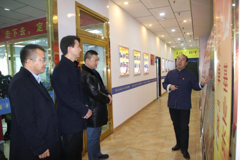 团省委、省青年企业家协会领导 暖冬慰问青越基层员工